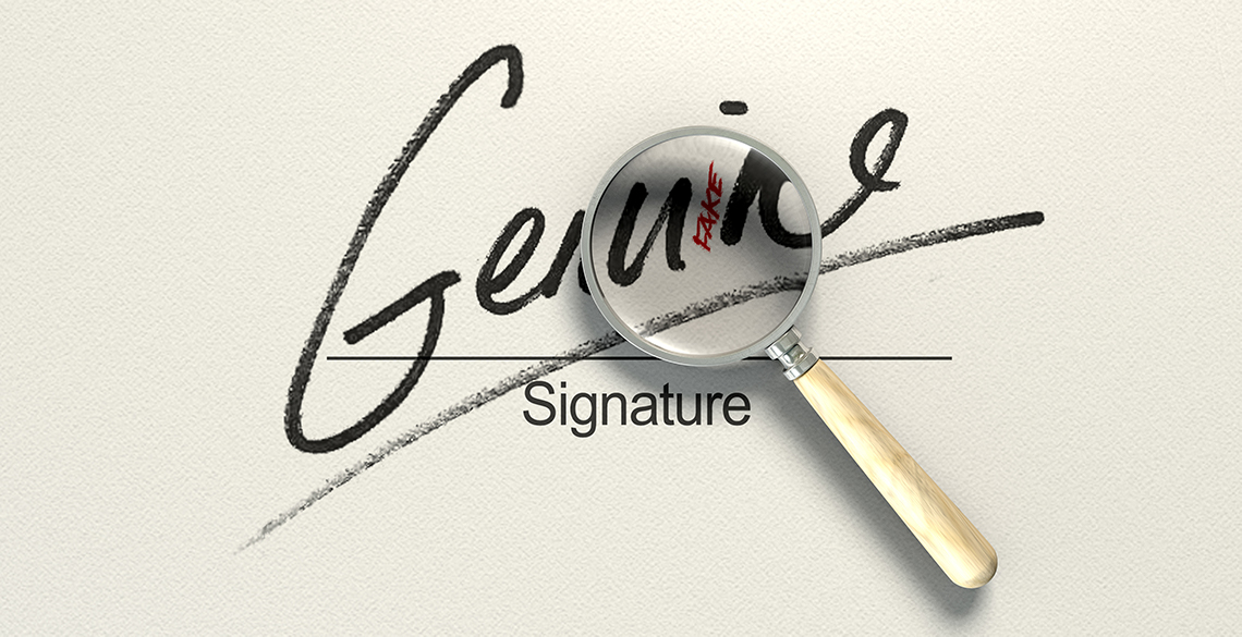 AI Forensic Fraud is the latest technology for signature verification.